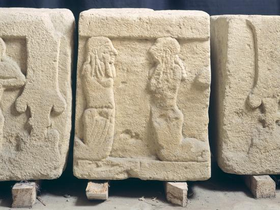 Stone Slabs with Reliefs. Etruscan Civilization, 9th-1st Century BC--Giclee Print
