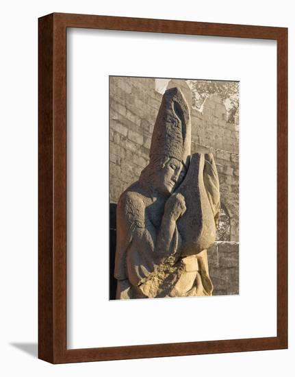 Stone statue in the Inner City of Baku, Azerbaijan-Keren Su-Framed Photographic Print