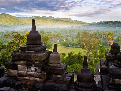 Stone Stupa, Borobudur (Borobodur), UNESCO World Heritage Site, Yogyakarta, Java, Indonesia-Matthew Williams-Ellis-Photographic Print