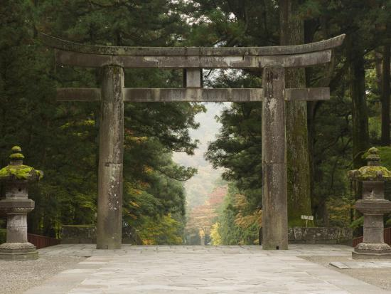 Stone Torii, Tosho-Gu Shrine, Nikko, Central Honshu, Japan-Schlenker Jochen-Photographic Print