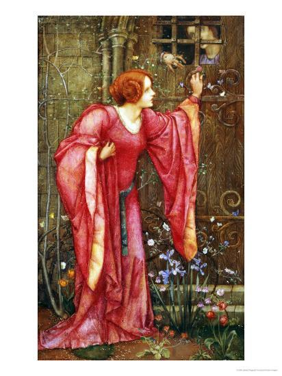 Stone Walls Do Not a Prison Make, Nor Iron Bars a Cage-Edward Reginald Frampton-Giclee Print