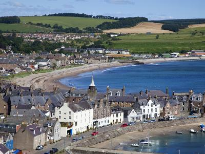 Stonehaven Bay and Quayside from Harbour View, Stonehaven, Aberdeenshire, Scotland, UK, Europe-Mark Sunderland-Photographic Print