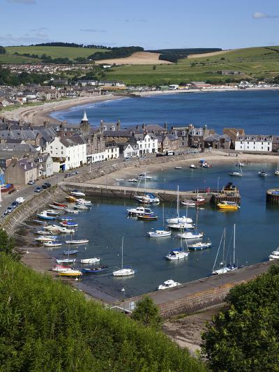 Stonehaven Harbour and Bay from Harbour View, Stonehaven, Aberdeenshire, Scotland, UK, Europe-Mark Sunderland-Photographic Print