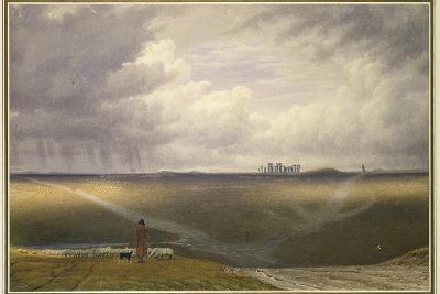Stonehenge - a Showery Day-J^ M^ W^ Turner-Giclee Print