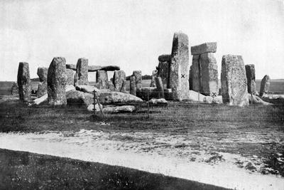 Stonehenge after Restoration, C1920--Giclee Print