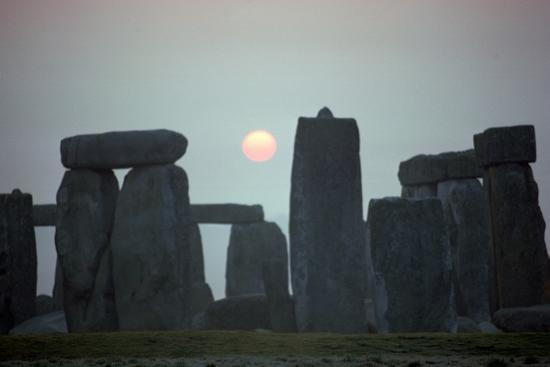 Stonehenge at sunrise, 25th century BC-Unknown-Photographic Print