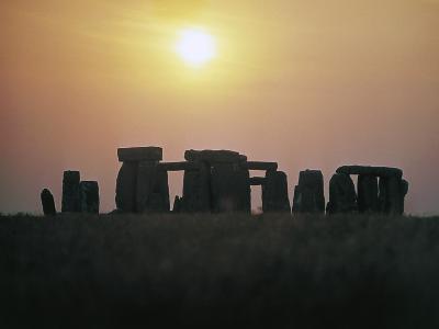 Stonehenge at Sunset--Photographic Print