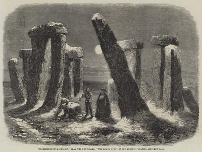 Stonehenge by Moonlight, from the New Drama, The Borgia Ring, at the Adelphi Theatre-Thomas Harrington Wilson-Giclee Print