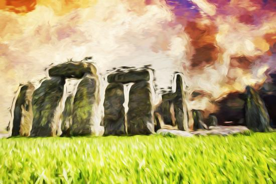 Stonehenge II - In the Style of Oil Painting-Philippe Hugonnard-Giclee Print