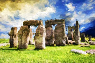 Stonehenge - In the Style of Oil Painting-Philippe Hugonnard-Giclee Print