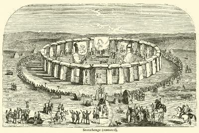 Stonehenge, Restored--Giclee Print