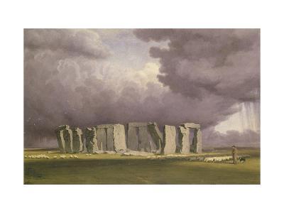 Stonehenge: Stormy Day, 1846-J^ M^ W^ Turner-Giclee Print