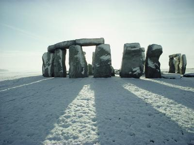 Stonehenge, Unesco World Heritage Site, in Winter Snow, Wiltshire, England, United Kingdom, Europe-Adam Woolfitt-Photographic Print