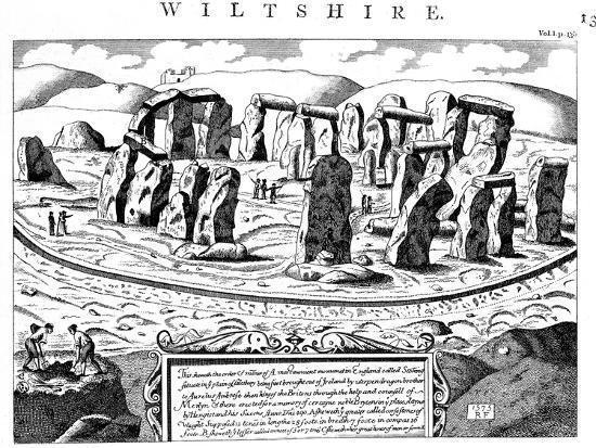 Stonehenge, Wiltshire, 18th Century--Giclee Print