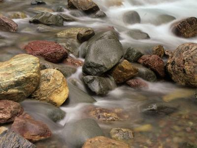 Stones in the Creek Below Baring Falls, Montana, USA-Jerry Ginsberg-Photographic Print
