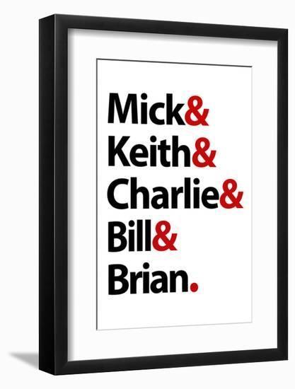 Stones Names Music Poster--Framed Art Print