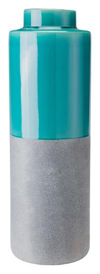 Stoneware Bottle Lg Teal And Gray--Home Accessories