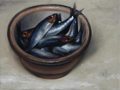 Stoneware Bowl, Full of Sprats, 2013-James Gillick-Giclee Print