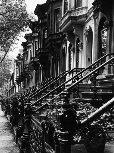 Stoops on 19th Century Brooklyn Row Houses-Karen Tweedy-Holmes-Photographic Print