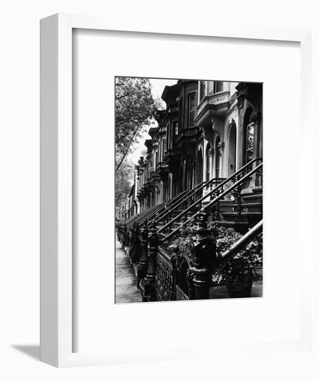 Stoops on 19th Century Brooklyn Row Houses-Karen Tweedy-Holmes-Framed Photographic Print