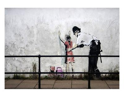 Stop and search-Banksy-Art Print