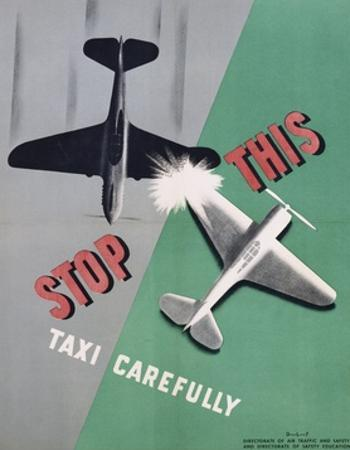 Stop This, Taxi Carefully Work Safety Poster