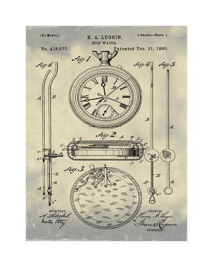 Stop Watch II, 1889-Antique II-Bill Cannon-Giclee Print
