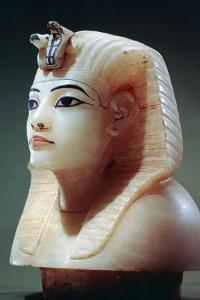 Stopper from One of the Canopic Urns from the Tomb of Tutankhamun, 18th Dynasty