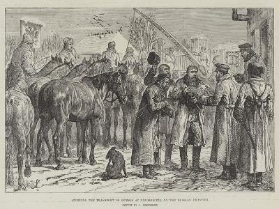 Stopping the Transport of Horses at Novoselitza, on the Russian Frontier-Johann Nepomuk Schonberg-Giclee Print