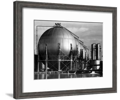 Storage Tanks at a Texaco Oil Refinery-Margaret Bourke-White-Framed Premium Photographic Print
