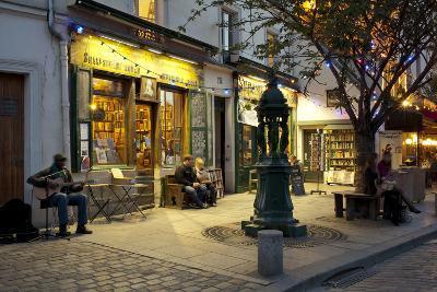 Store at Dusk, Paris, Ile-De-France, France--Photographic Print