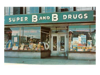 Store Front Drug Store--Art Print