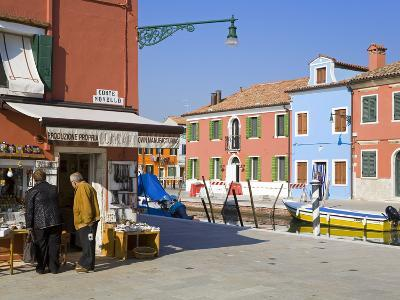 Store on Corte Novello, Burano Island, Venice, Veneto, Italy, Europe-Richard Cummins-Photographic Print