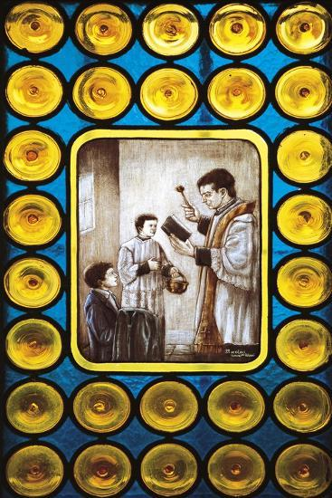 Stories from Life of Don Bosco, Stained Glass Window, Castelnuovo Don Bosco, Piedmont, Italy--Giclee Print