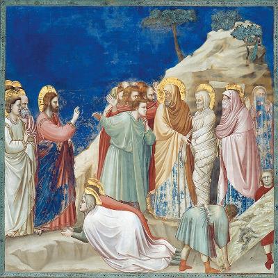 Stories of Christ the Raising of Lazarus-Giotto di Bondone-Giclee Print