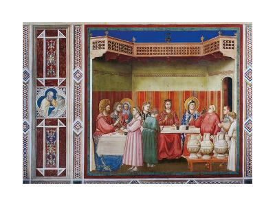 Stories of Christ the Wedding at Cana Or the Marriage Feast at Cana-Giotto di Bondone-Giclee Print