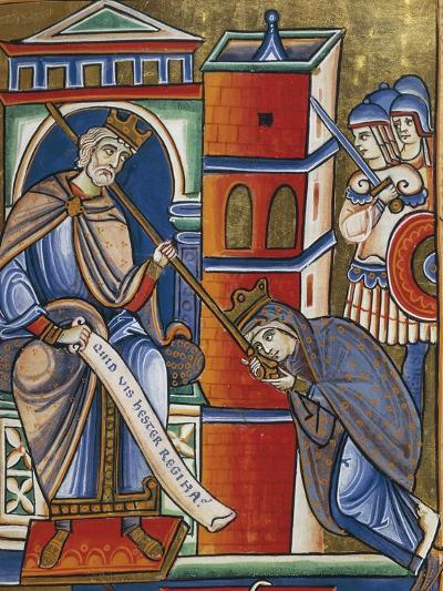 Stories of Esther: Esther at King Ahasuerus's Feet Advocating the Cause of the Jews--Giclee Print