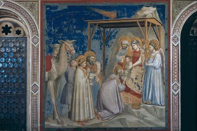 Stories of the Christ the Adoration of the Magi-Giotto di Bondone-Photographic Print