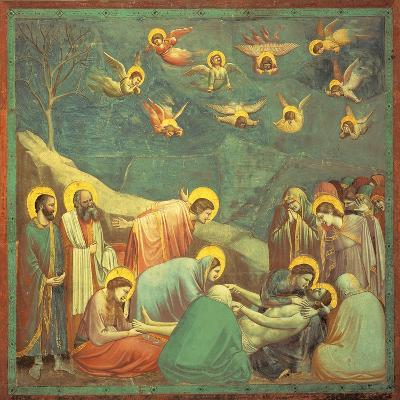 Stories of the Passion the Mourning Over the Dead Christ-Giotto di Bondone-Giclee Print