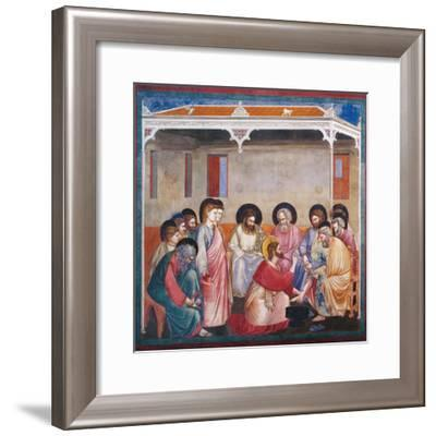 Stories of the Passion the Washing of the Feet-Giotto di Bondone-Framed Giclee Print