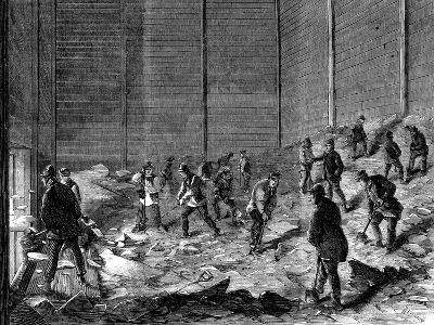 Storing Ice in Insulated Sheds at Charles's Ice Store, Chelsea, London, 1861--Giclee Print