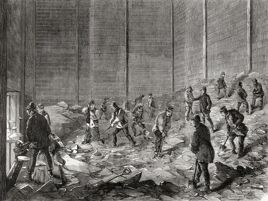 Storing the Ice at Mr Charles' Ice Stores--Giclee Print