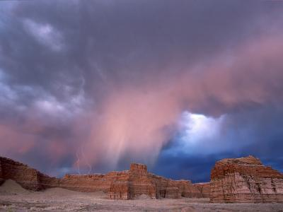Storm Approaches Tohachi Canyon, Navajo Indian Reservation, Painted Desert, Arizona-David Edwards-Photographic Print