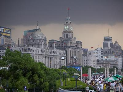 Storm Arriving on the Bund, Shanghai, China-Brent Winebrenner-Photographic Print