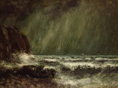 Storm at Sea, 1865-Gustave Courbet-Giclee Print