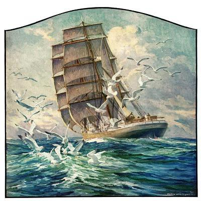 """Storm at Sea,""October 31, 1931-Anton Otto Fischer-Giclee Print"