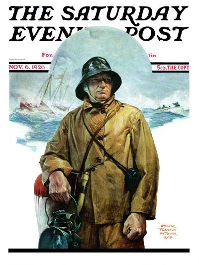 """Storm at Sea,"" Saturday Evening Post Cover, November 6, 1926-Edgar Franklin Wittmack-Giclee Print"