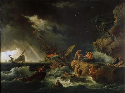 Storm at the Sea, 1740S-Claude Joseph Vernet-Giclee Print