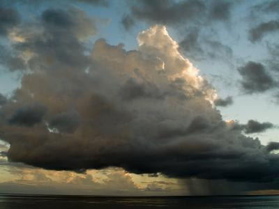 Storm Cloud Drifting Over the Caribbean Sea-Todd Gipstein-Photographic Print