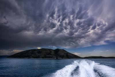 Storm Clouds Build over the Mediterranean Sea-Andy Mann-Photographic Print